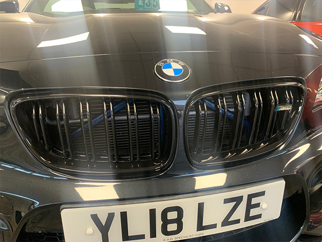 BMW M2 gloss black grills