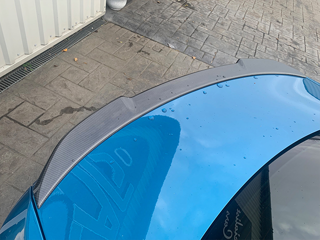 BMW M2 carbon rear boot spoiler style