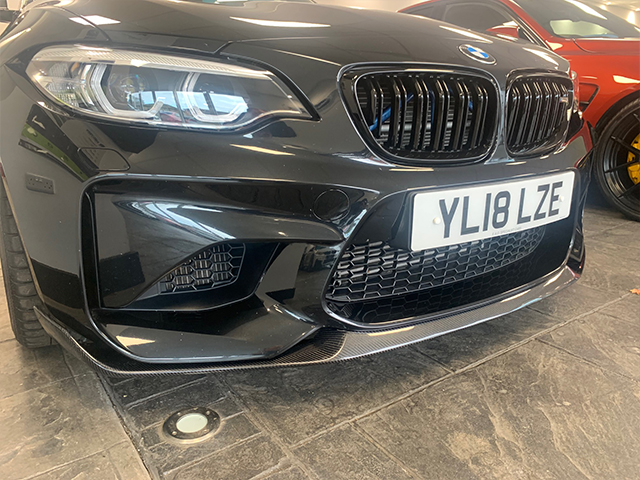 BMW M2 carbon front splitter