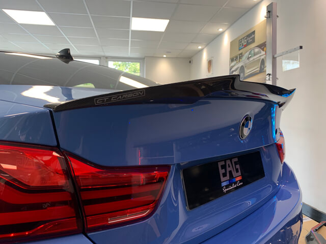 M4 Rear Carbon Boot Spoiler V Style